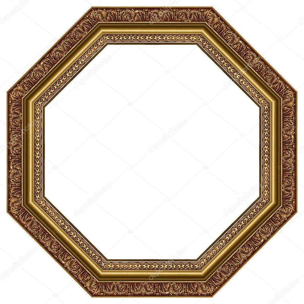 椭圆形金色相框用装饰图案– 图库图片
