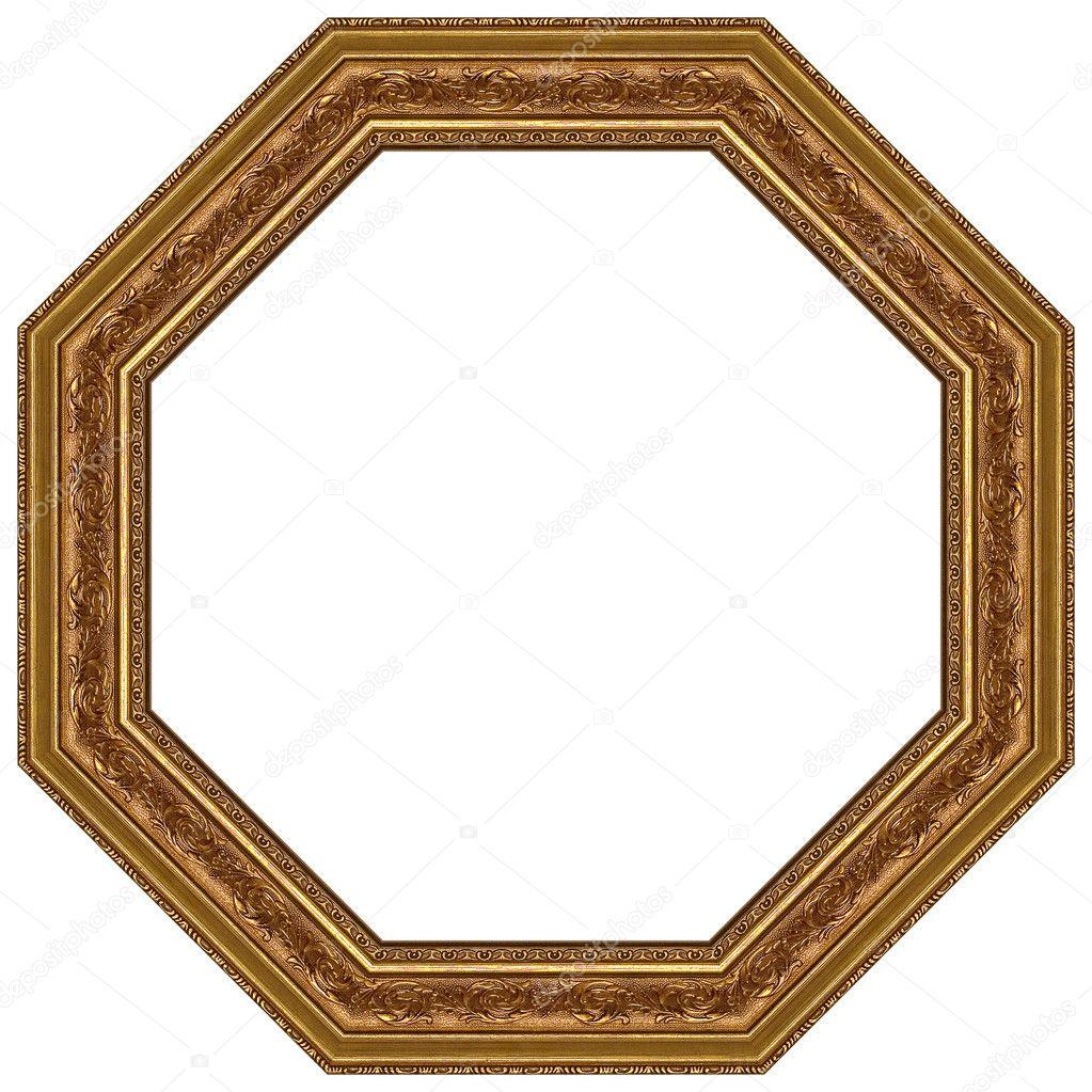 椭圆形金色相框 - 图库图片