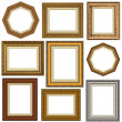 Gold picture frames - Stock Photo