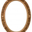 Oval gold picture frame — Stock Photo #1157161