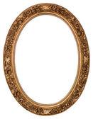 Cornice ovale oro — Foto Stock