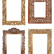 Oval gold picture frame — Stock Photo #1161978