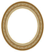Oval gold picture frame — Stock Photo