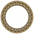 Oval gold picture frame — Stock Photo #1175153