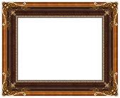 Oval altın resim çerçevesi — Stok fotoğraf