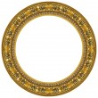 Oval gold picture frame — Stock Photo #1183633