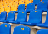 Dark blue seats on a sports tribune — Stock Photo