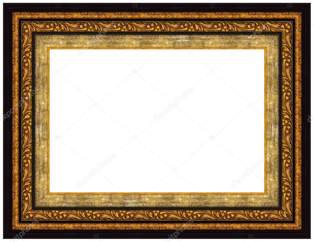 Picture gold frame with a decorative pattern — Stock Photo #1206677