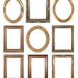 Gold picture frames - Stok fotoraf