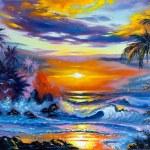 Beautiful sea evening landscape — Stock Photo