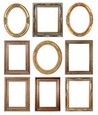 Gold picture frames — Foto Stock