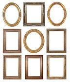 Guld tavelramar — Stockfoto