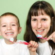 Teeth brushing — Stock Photo #1038952