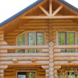 Log house structure - Stock Photo