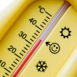 Stock Photo: Temperature thermometer
