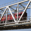 Train truck and railroad bridge - Stockfoto