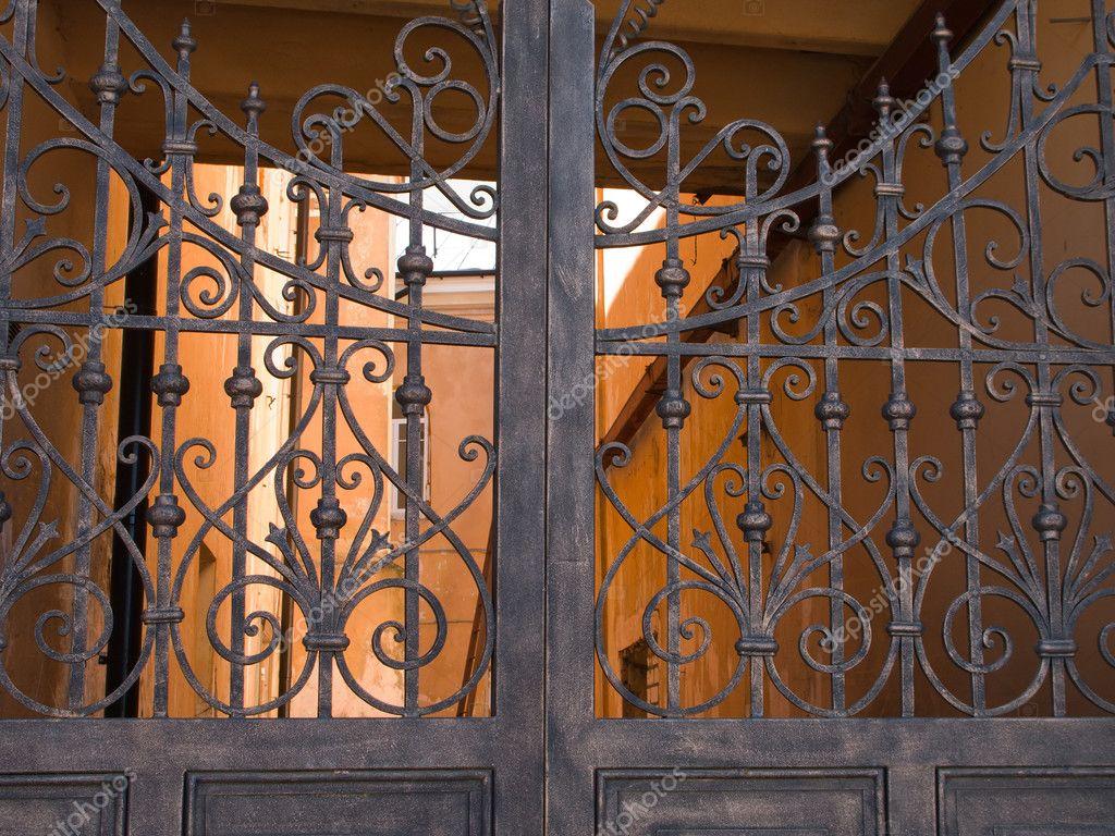Metalen poort — stockfoto © ia  64 #1062660