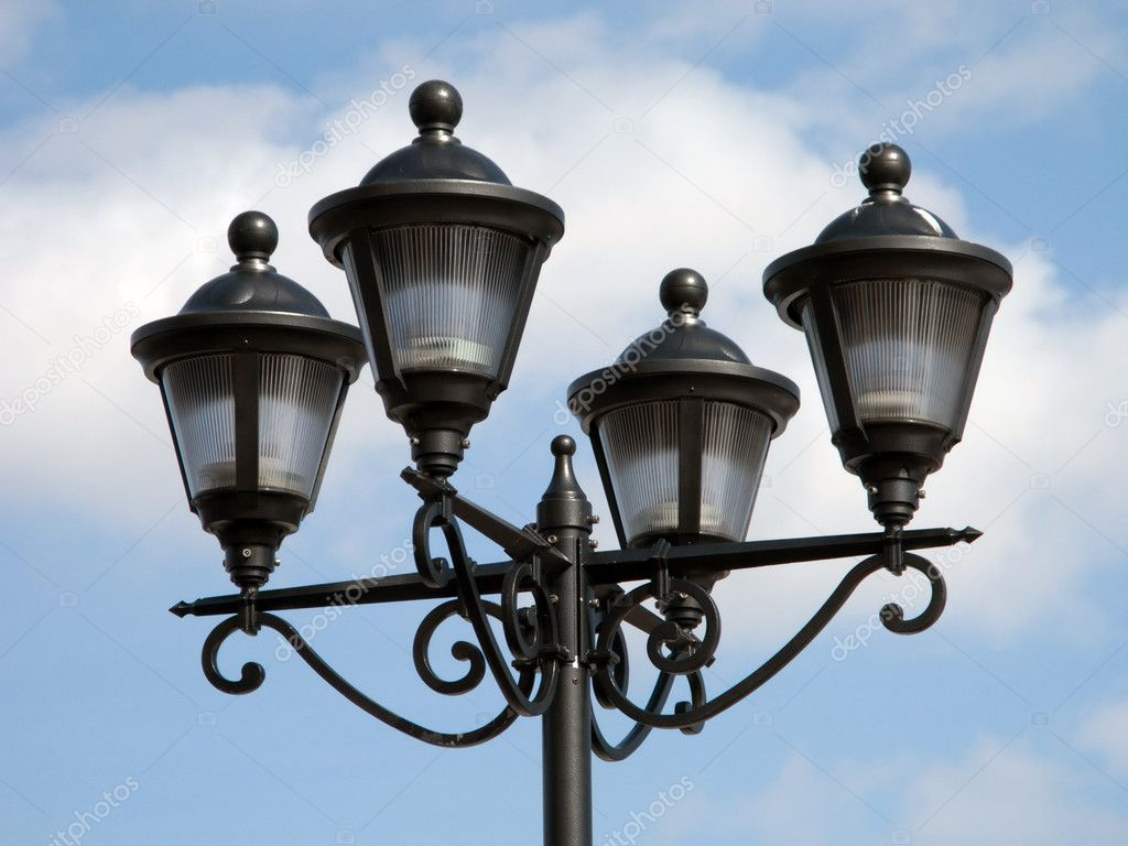 Street light equipment and blue sky — Stock Photo #1063709