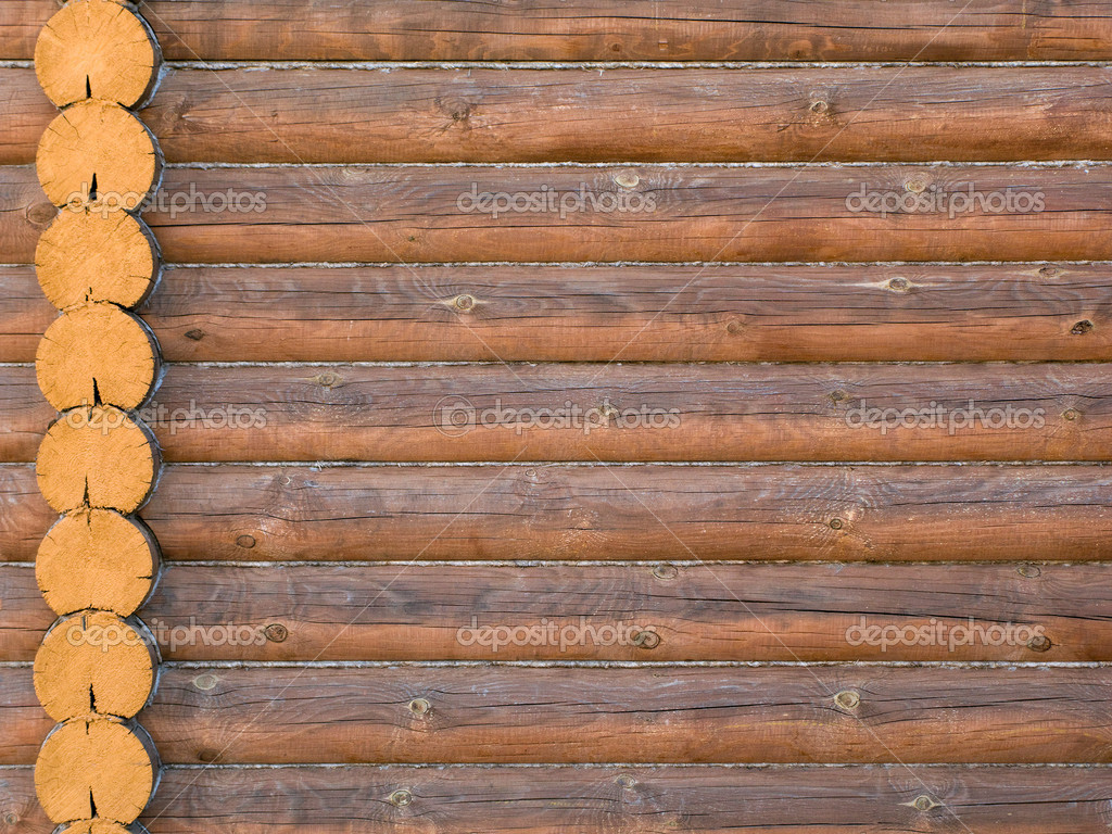 how to make log wall