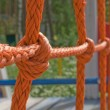 Stock Photo: Tied rope knot
