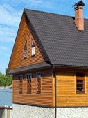 House log wall — Stock Photo