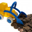 Coin car — Stock Photo