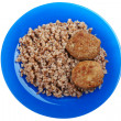 Cutlet buckwheat food — Stock Photo #1340945