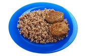 Cutlet buckwheat food — Stock Photo