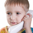 Child with telephone — Stock Photo #1465396