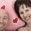 Couple on pillow — Stock Photo