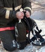 Firefighter equipment — Stock Photo