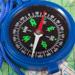 Compass and map - Photo