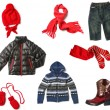 Kids clothes set isolated on white — 图库照片