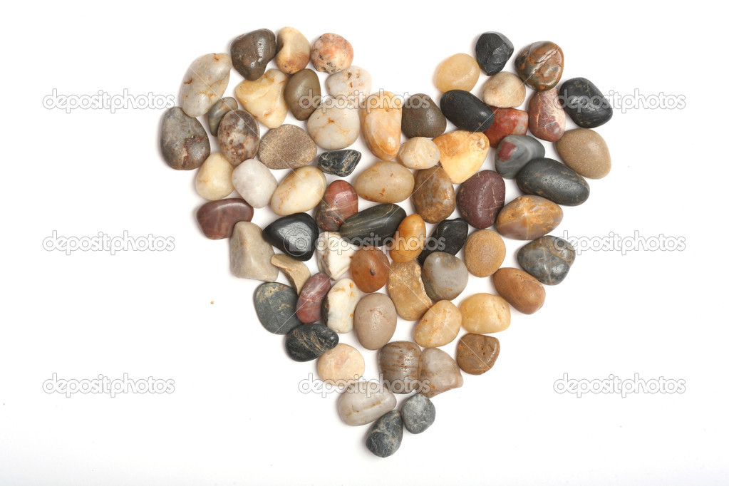 Heart stones isolated on white. — Stock Photo #1109554