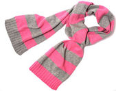 Pink and gray scarf — Stock Photo