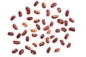 červené fazole, izolované na bílém — Stock fotografie