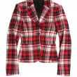 Red checkered jacket - Stockfoto