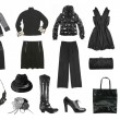 Black female clothes set — Stock Photo
