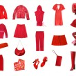 Royalty-Free Stock Photo: Red female clothes set