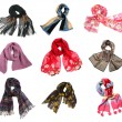 Scarf set - Stock Photo
