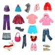 Kids clothes set — Stock Photo
