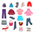 Stock Photo: Kids clothes set