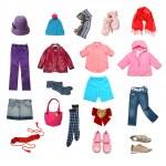 Kids clothes set — Stock Photo