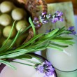 Lavender and handmade soap — Stock Photo
