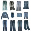 Denim clothes set — Stock Photo