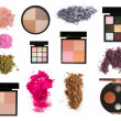 Royalty-Free Stock Photo: Set of  eyeshadows and blush palettes