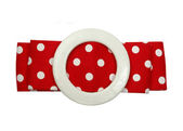 Red polka dot retro style belt — Stock Photo