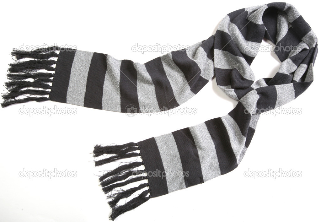 Striped scarf isolated on white — Stock Photo #1256325