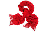 Red scarf isolated on white — Stock Photo