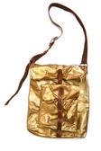 Золото кожаный мешок — Стоковое фото